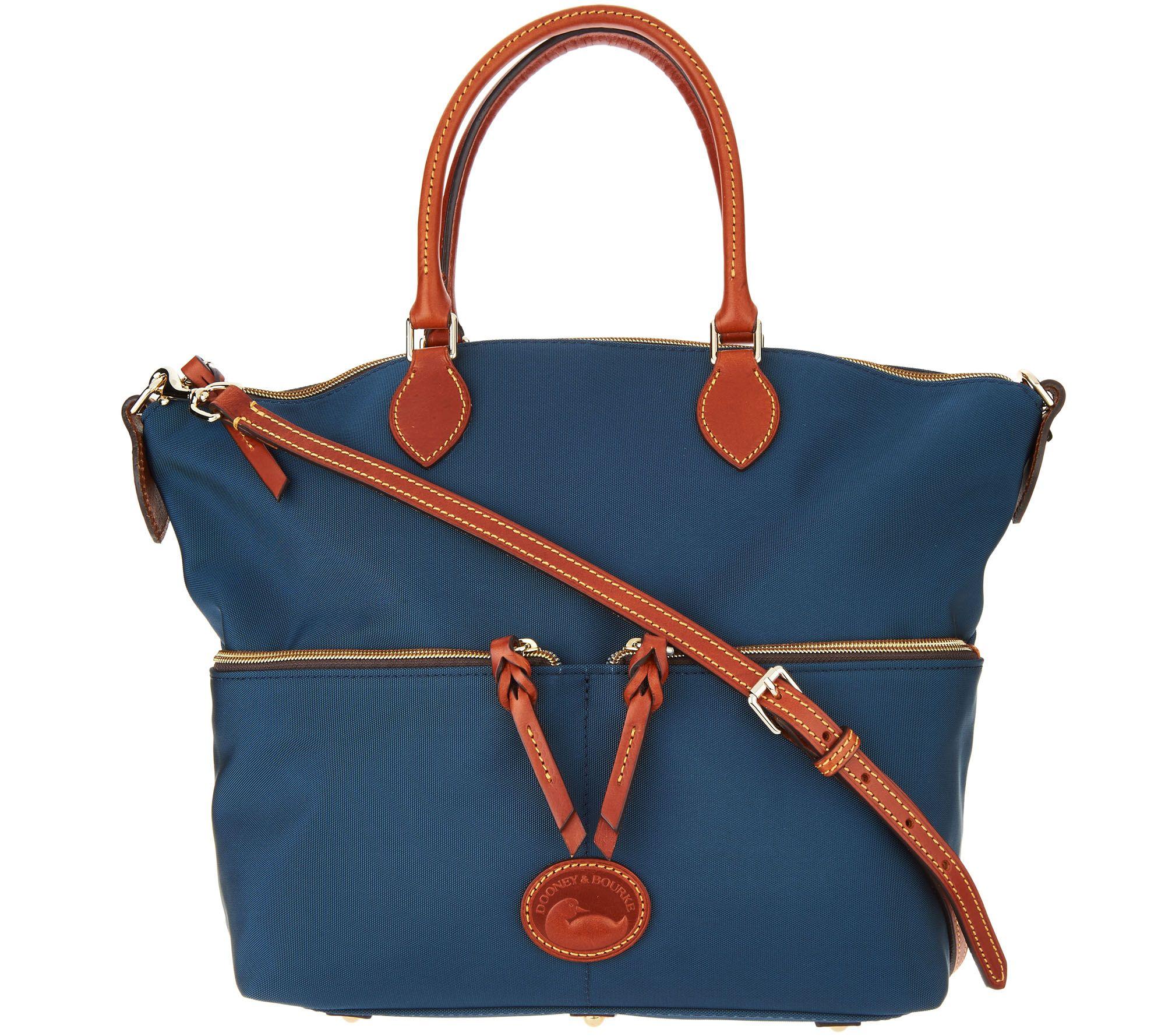 Dooney & Bourke Nylon Large Pocket Satchel Handbag — QVC.com