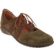 Naot Leather or Suede Lace-up Flats - Timu - A297321