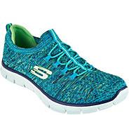 As Is Skechers Flat Knit Bungee Slip-On Sneaker -Sharp Thinking - A300921
