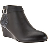 As Is Vionic Orthotic Leather Wedge Boots Detail- Shasta - A304821