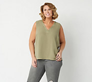Lisa Rinna Collection V-Neck Sleeveless Blouse - A309121