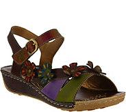 LArtiste by Spring Step Leather Slide Sandals- Belana - A363621