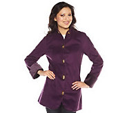 Isaac Mizrahi Live! Faux Shearling Jacket w/ Turn Key Closure - A211322
