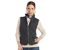 George Simonton Quilted Iridescent Jacquard Vest - A216622