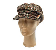 Collection XIIX Boucle Cabby Hat with Stone Jewel Accent - A217222