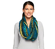 Collection 18 Striped Chevron Infinity Scarf - A227322