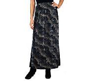 George Simonton Burnout Velvet Knit Maxi Skirt with Elastic Waistband - A228322