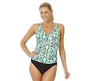 Ocean Dream Signature Cobra Shirred 1-Piece Swimsuit - A233022