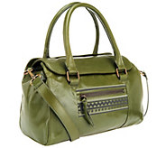 As Is Muxo by Camila Alves Leather Satchel w/ Stitch Detail - A256122