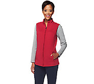 Denim & Co. Active Quilted Knit Zip Front Vest - A257722