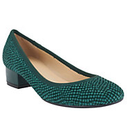 As Is Isaac Mizrahi Live! Snake Embossed Leather Pumps - A263922