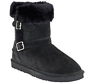 As Is Lamo Suede Water Resistant Boots w/ Faux Fur - Cresson - A266322