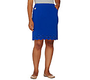 As Is Quacker Factory DreamJeannes Smile N Style Scalloped Skort - A270922