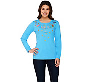 Quacker Factory Festival of Lights Long Sleeve T-shirt - A271222