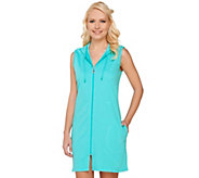 As Is Denim & Co. Beach Sleeveless Zip Front Cover-Up - A271422