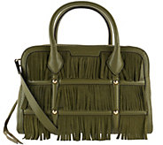 Aimee Kestenberg Leather and Suede Fringe Satchel - Reese - A272322
