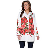 Dennis Basso Water Resistant Placed Floral Print Jacket - A275522