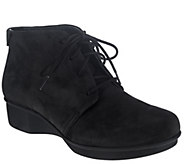 As Is Dansko Stain Resistant Lace-Up Ankle Boots - Lucille - A276122