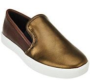 As Is LOGO by Lori Goldstein Slip-on Sneakers with Goring - A281222