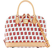 Dooney & Bourke NCAA NC State University Zip Zip Satchel - A283222