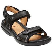 As Is Clarks Unstructed Adj. Straps Sport Sandals - Un. Harbor - A283522