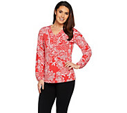 Susan Graver Printed Liquid Knit Top - A286722