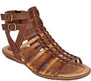 Earth Leather Gladiator Sandals - Sky - A289322