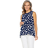 Susan Graver Printed Stretch Woven Sleeveless Top - A289422