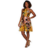As Is Isaac Mizrahi Live! Special Edition Photoreal Floral Dress - A291122