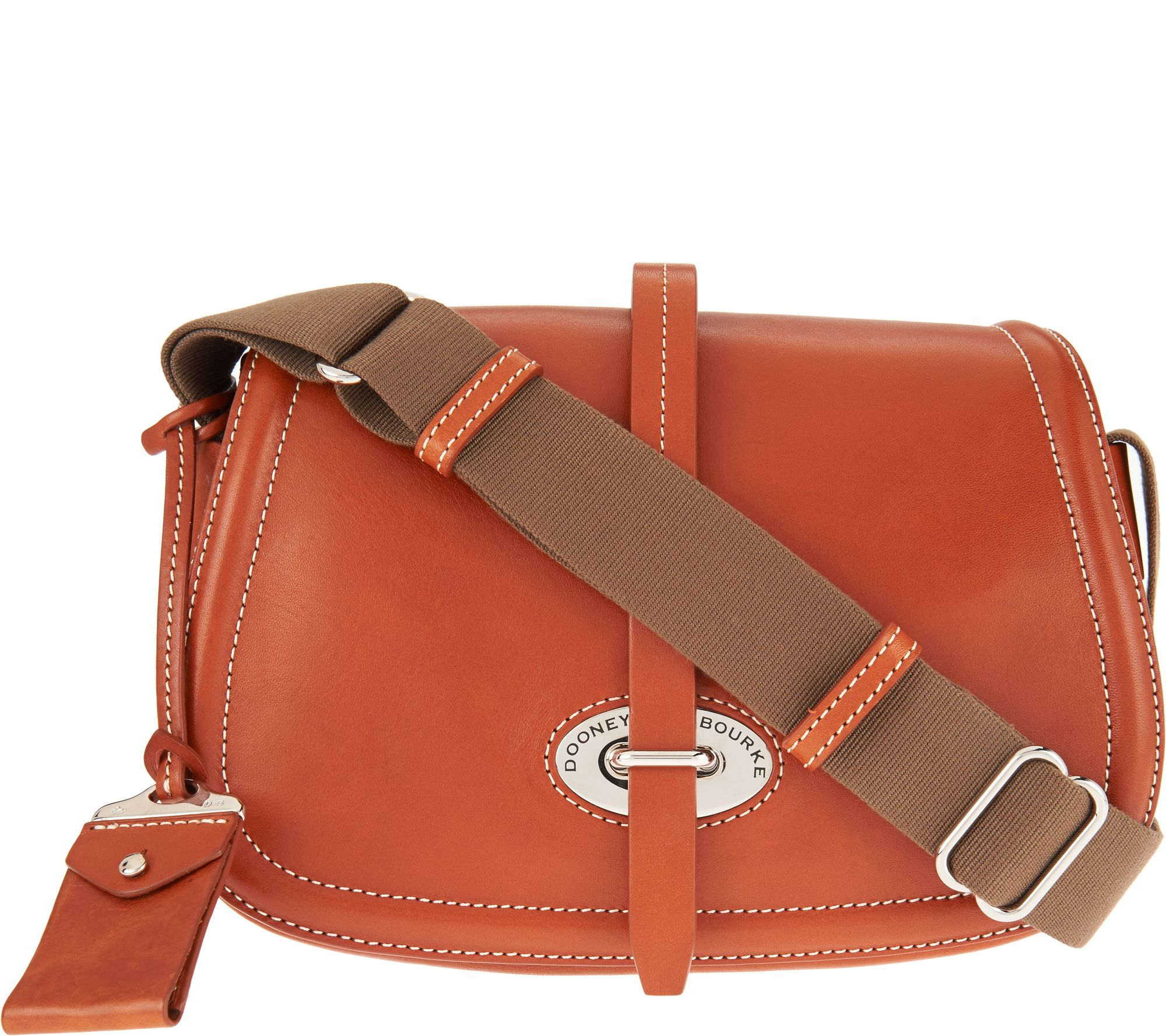 As Is Dooney Bourke Florentine Toscana Small Saddle Bag Page 1 Qvc Com