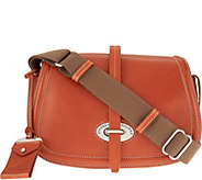 As Is Dooney & Bourke Florentine Toscana Small Saddle Bag - A292522