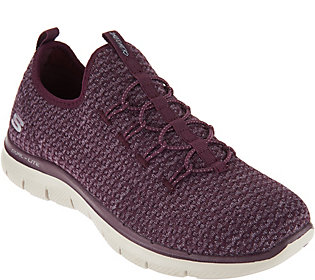 Skechers Multi Knit Slip-On Bungee Sneakers - Visions
