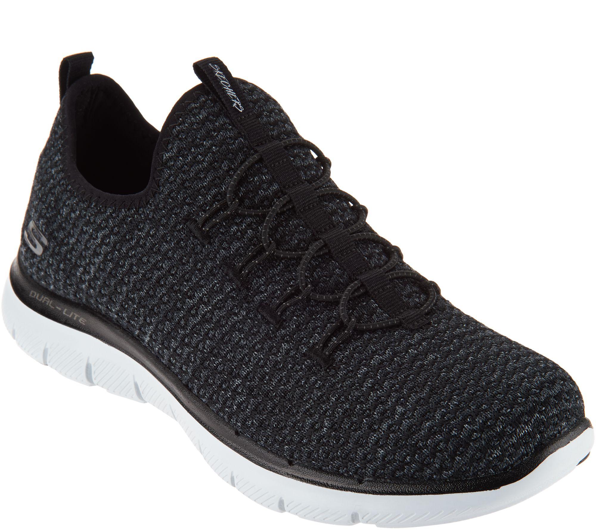 Skechers Multi-Knit Slip On Bungee Dual Lite Memory Foam Sneaker Women Size 10