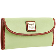 Dooney & Bourke Pebble Leather Continental Clutch Wallet - A297522