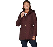 Susan Graver Quilted Jacket with Removable Hood - A299322