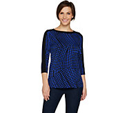 Susan Graver Printed Liquid Knit Top - A300522