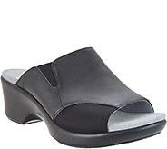 Alegria Leather Slide Wedge Sandals - Ryli - A304022