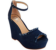 Vince Camuto Ankle Strap Wedges - Tatchen - A306422