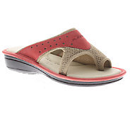 Flexus by Spring Step Pascalle Leather/Mesh Slide Sandals - A332022