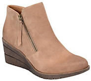 Sofft Leather Wedge Ankle Boots - Salem - A355522