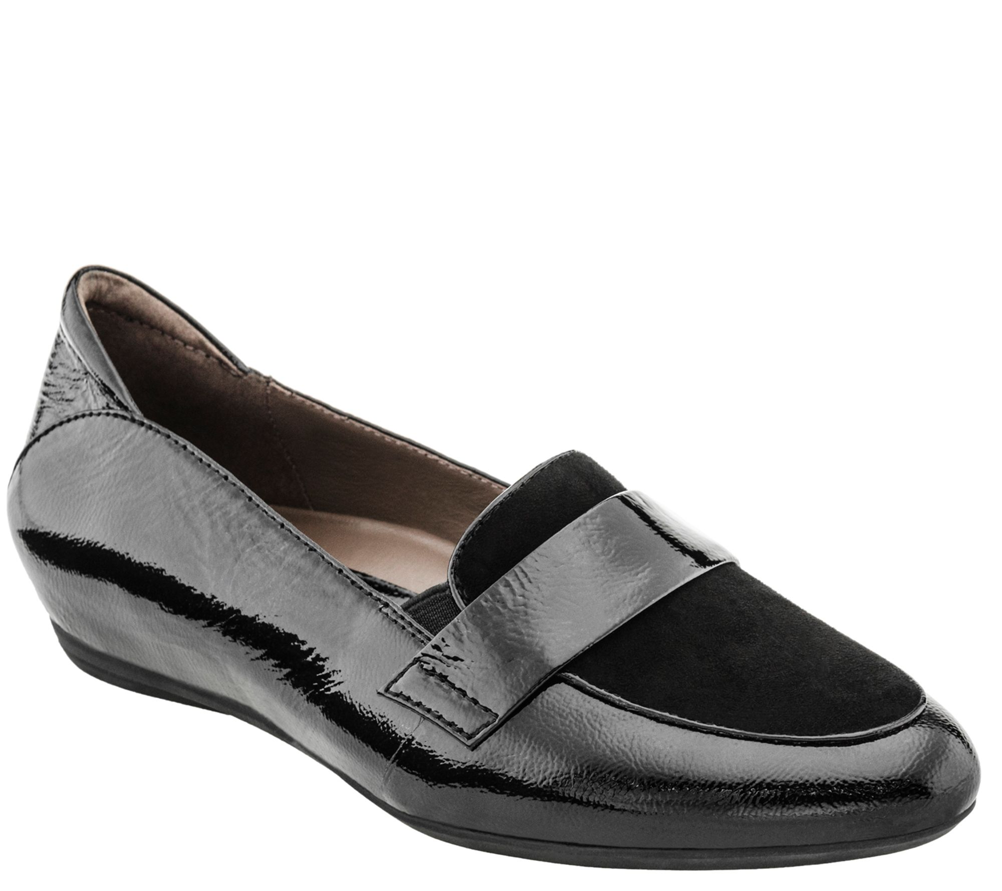 earthies leather slip on loafers bremen qvc