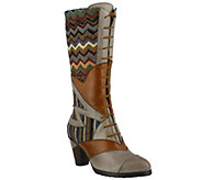 Spring Step LArtiste  Leather & Textile Boots- Malag - A356222