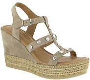 Bella Vita Leather Suede Wedge Sandals - Rin - A357022