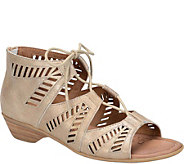 Comfortiva Lace Up Leather Sandals - Riley - A357322