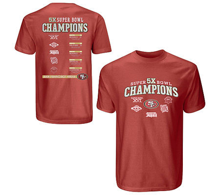 Nfl San Francisco 49ers Super Bowl Champions T Shirt