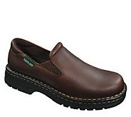 Eastland WomLeather Slip-ons with Lug Sole - Newport Brown - A183423