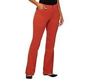 Denim & Co. How Comfy Petite Boot Cut Knit Jeans - A220823