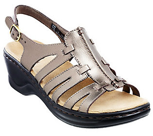 As Is Clarks Leather Lightweight Sandals - Lexi Marigold