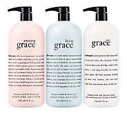 philosophy supersize trio of grace fragranced shower gels - A237723