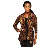 Susan Graver Liquid Knit Printed Cardigan & Tank Set - A237823